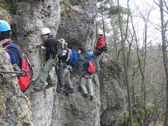 Klettersteig Höhenglücksteig : Höhenglücksteig im sommer